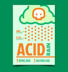 Acid rain problem creative promotion banner vector