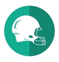 American football helmet protection shadow vector