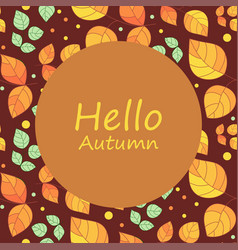 Autumnal template from leaves vector