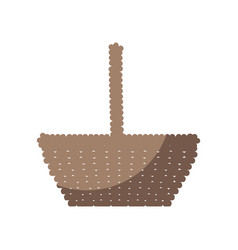basket empty object vector image