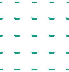 Bath icon pattern seamless white background vector