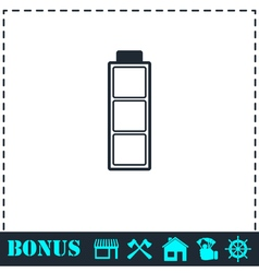 Battery empty icon flat vector