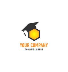 bee education logo vector image