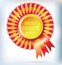 best choice red label with ribbons vector image vector image