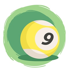 Billiard Ball Number 9 Striped Yellow vector image
