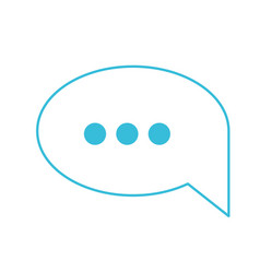 blue color silhouette of speech bubble with vector image