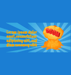 boom concept banner comics isometric style vector image