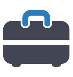 Briefcase portfolio suitcase icon vector