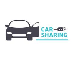 Car sharing service icon design concept vector