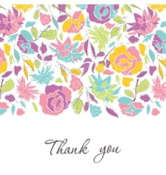 Card with doodle flowers vector image
