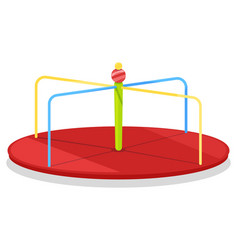 Children carousel for merrymaking on free time vector