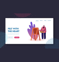 Choose profession heart landing page template vector
