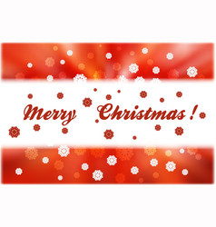 Christmas snowflakes and white strip for text on vector