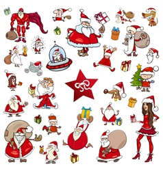 christmas theme cartoons vector image