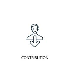 Contribution concept line icon simple element vector