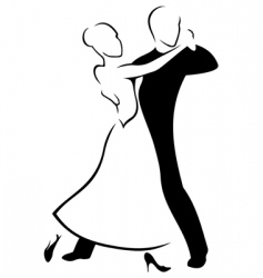 couple dancing a waltz vector image