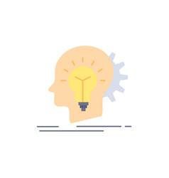 creative creativity head idea thinking flat color vector image