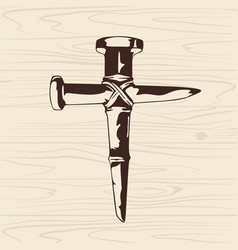 Cross of nails vector