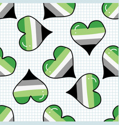 cute aromantic heart cartoon seamless vector image