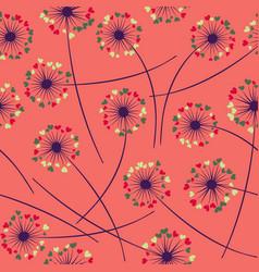 Dandelion blowing floral seamless pattern vector