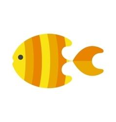 decorative fish flat icon isolated on white vector image