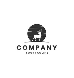 deer hunting logo design inspiration vector image