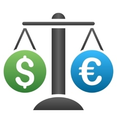 Euro Dollar Weight Gradient Icon vector image