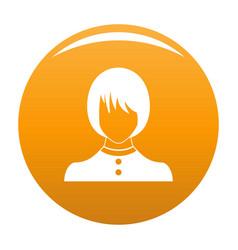 Girl user icon orange vector
