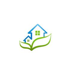 Green house garden ecology logo vector