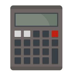 Grey electronic calculator icon isolated vector