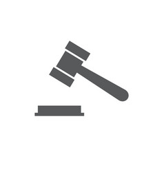 hammer judge icon on white vector image