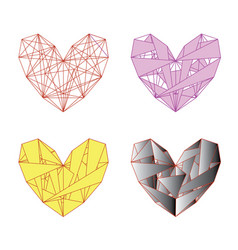 heart of triangles vector image
