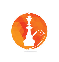 Hookah and shisha logo vector