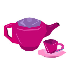 isolated tea toys vector image