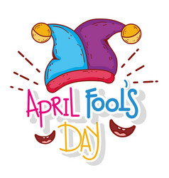 Jester hat with smiles to april fool day vector