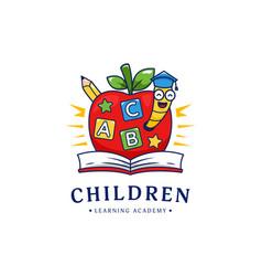 Kindergarten children learning school academy vector