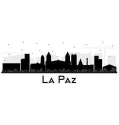 La paz bolivia city skyline silhouette with black vector