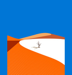 lonely tree in the desert vector image