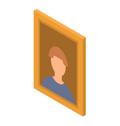 man picture icon isometric style vector image