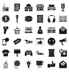 Merchandise icons set simple style vector