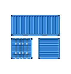 Metal cargo container vector image