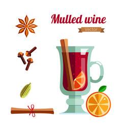 mulled wine winter season vector image