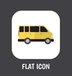 of automobile symbol on van vector image