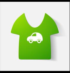 Paper clipped sticker children t-shirt vector