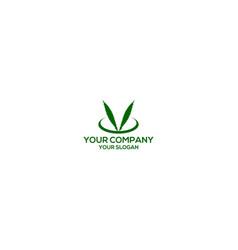 Peace hemp logo design vector