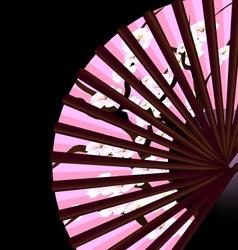Pink fan vector