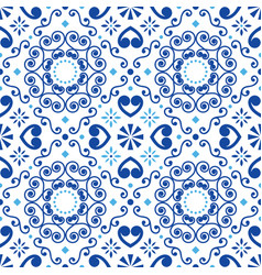 Portuguese or spanish tile azulejos pattern vector