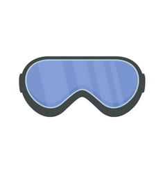 Protect goggles icon flat style vector
