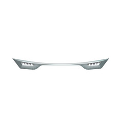 realistic car headlights vector image