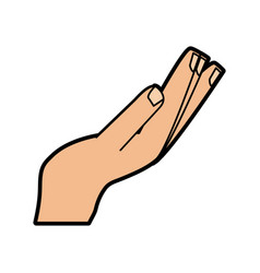 Receive or give hand gesture icon image vector